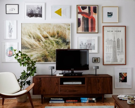 How to decorate around your TV via simply grove