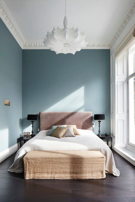 COLOR in the bedroom via Simply Grove