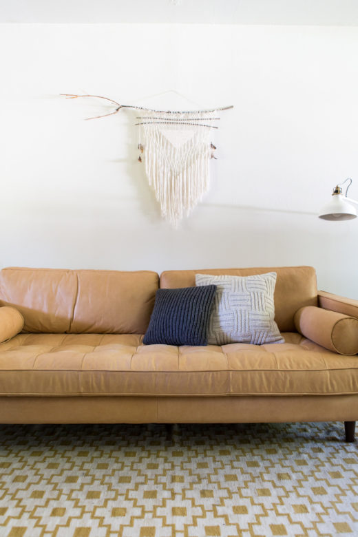 How to style your sofa with throw pillows via simply grove