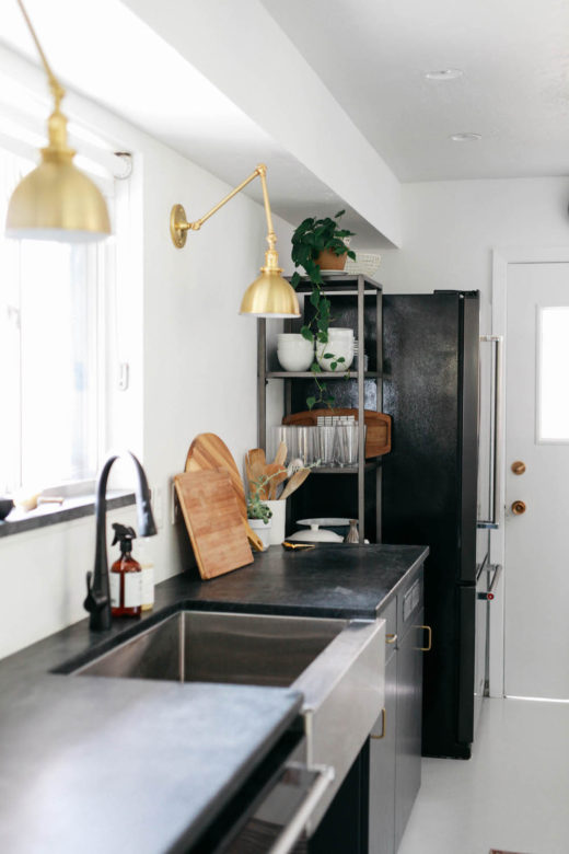 Kirsten Grove's kitchen renovation via simply grove. Photo by Karen Krum