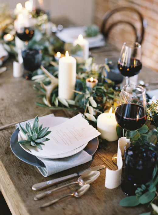 Setting the table for Thanksgiving via Simply Grove