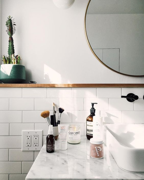 How to Decorate Like and Adult: in the Bathroom Via Simply Grove