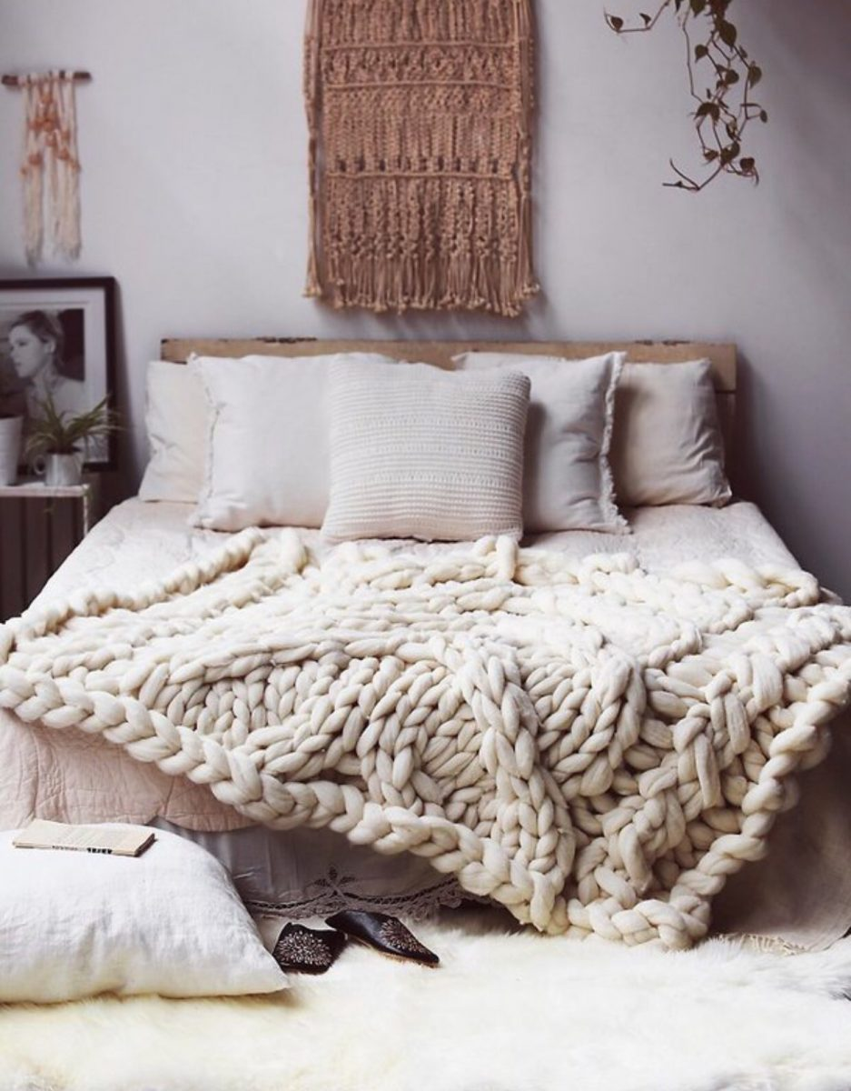 Bohemian Aesthetic for the Bedroom via Simply Grove