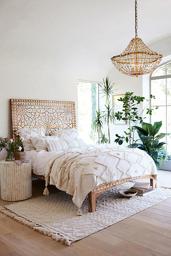 How to Get the Bohemian Aesthetic in Your Bedroom - Simply ... on Modern Boho Bed Frame  id=40997