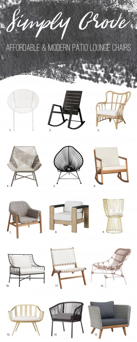 Terrific Affordable Modern Patio Lounge Chairs To Freshen Up Your Customarchery Wood Chair Design Ideas Customarcherynet