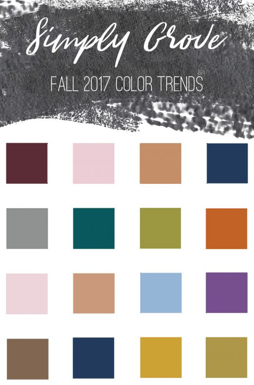 Fall Color Trends via Simply Grove