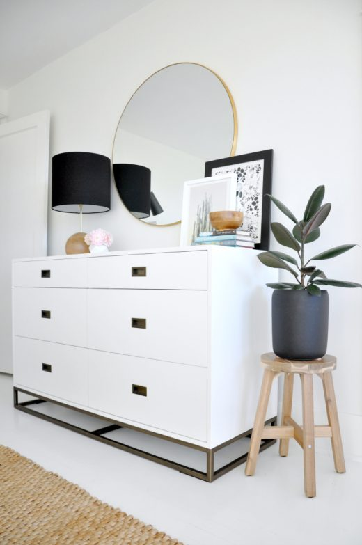 Style Tip of the Week - bedroom dresser via Simply Grove