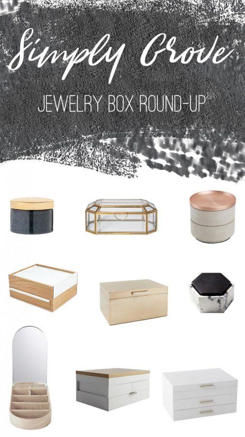 Modern Jewelry Box Round-Up via Simply Grove