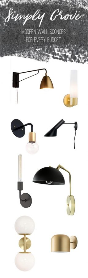 Modern Wall Sconces at every price point via Simply Grove