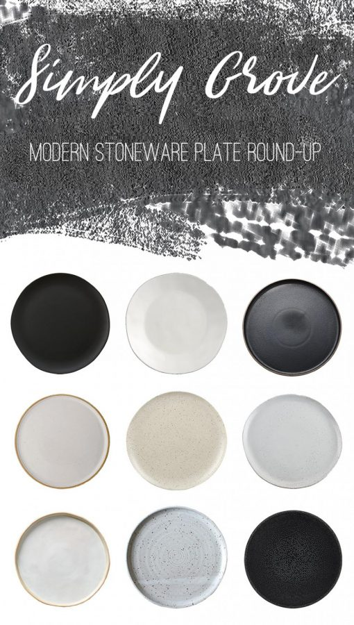 Modern Stoneware Plates - Round-Up via Simply Grove