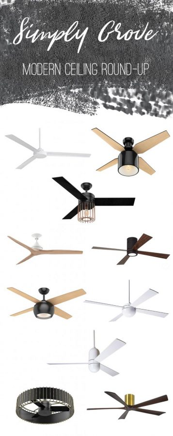 Modern Ceiling Fan Round-Up via Simply Grove