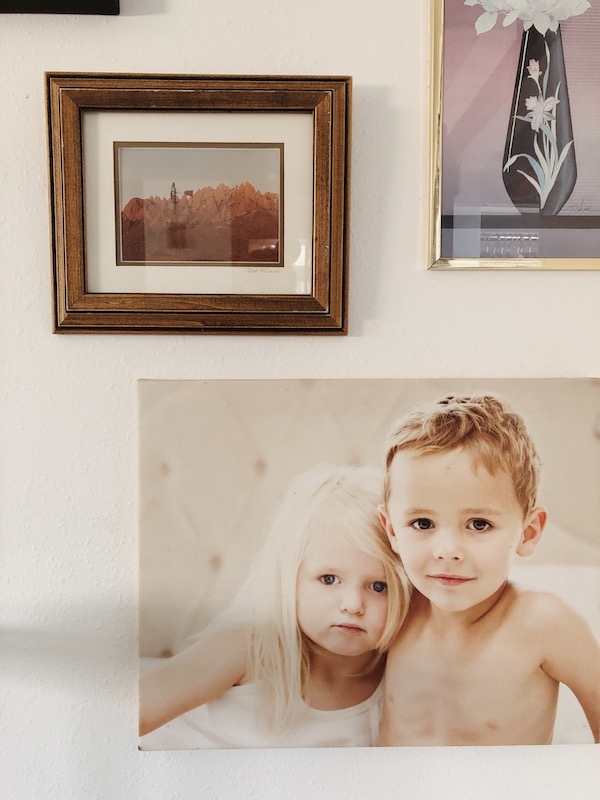 Creating a family picture gallery wall via simply grove