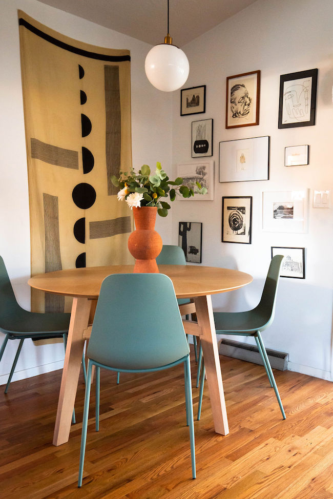 Small dining room makeover with Article via Simply Grove